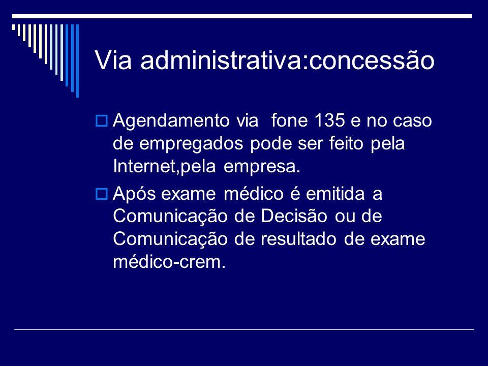 Via administrativa:concessão