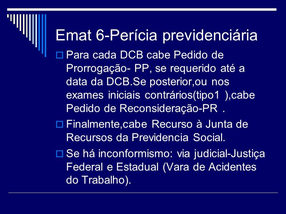 Emat 6-Perícia previdenciária