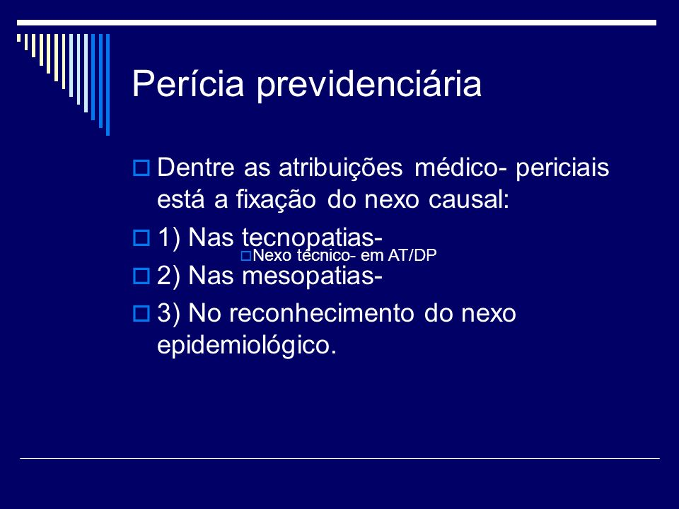 Perícia previdenciária