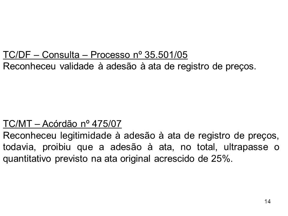 TC/DF – Consulta – Processo nº 35.501/05
