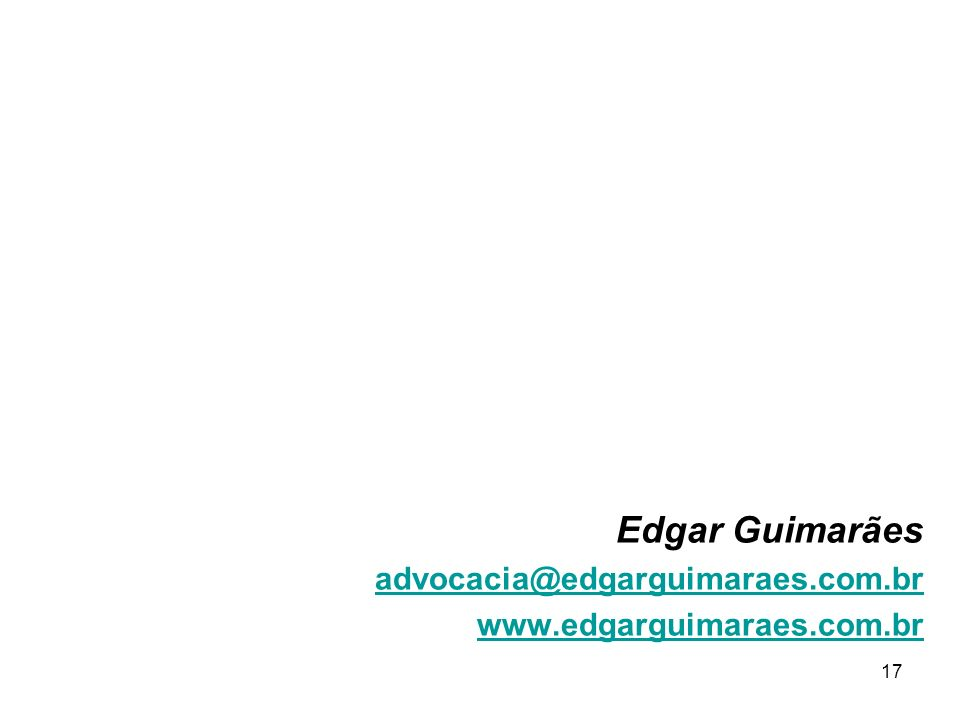 Edgar Guimarães advocacia@edgarguimaraes.com.br