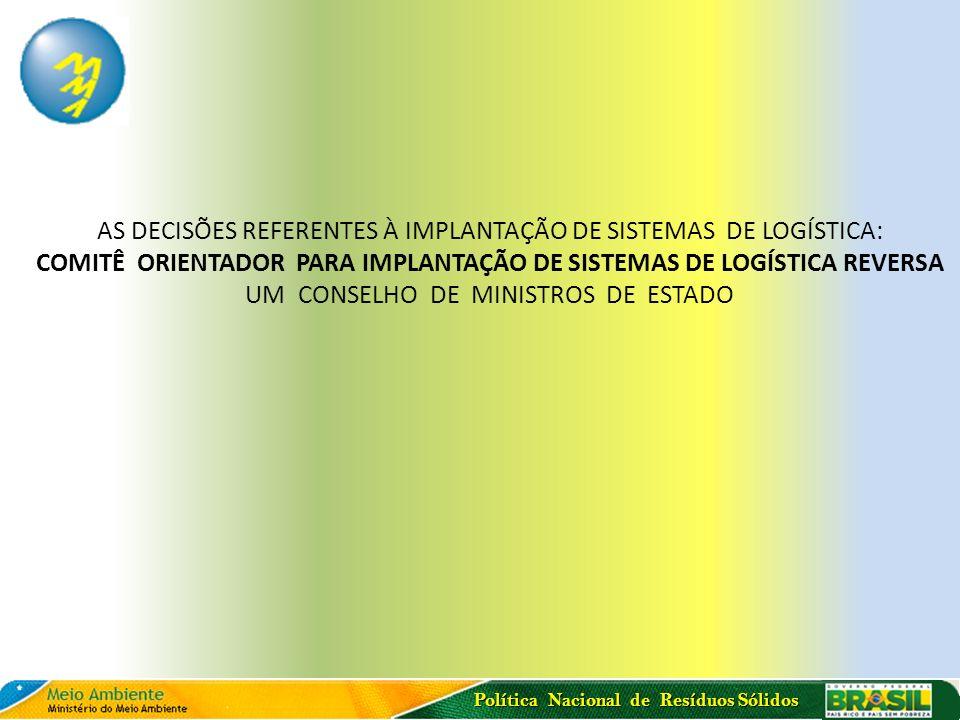 COMITÊ ORIENTADOR PARA IMPLANTAÇÃO DE SISTEMAS DE LOGÍSTICA REVERSA