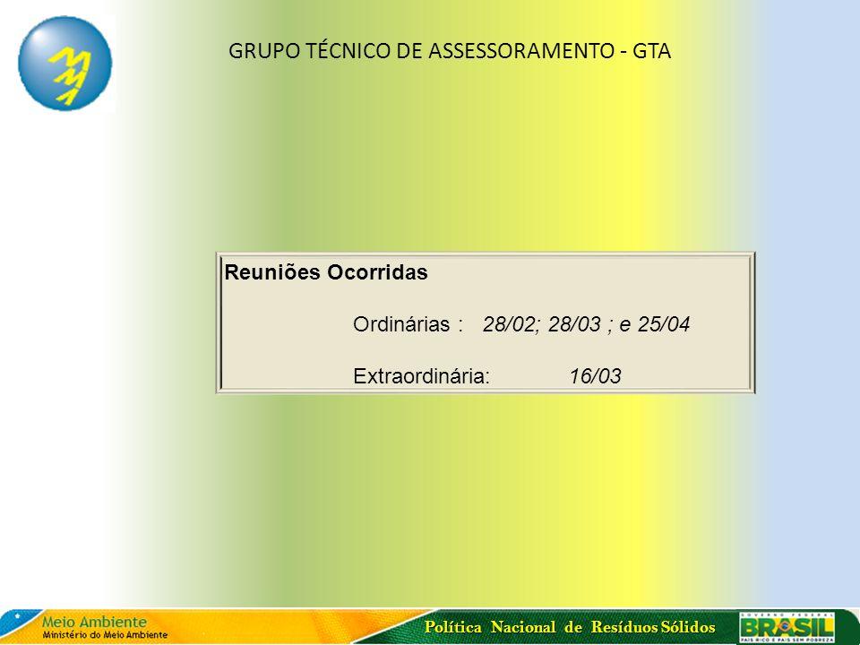 GRUPO TÉCNICO DE ASSESSORAMENTO - GTA