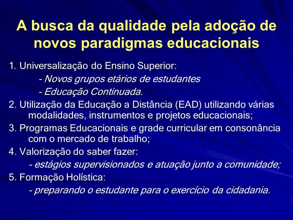 A busca da qualidade pela adoção de novos paradigmas educacionais