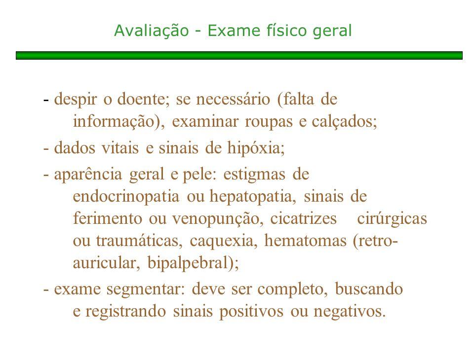 Avaliação - Exame físico geral