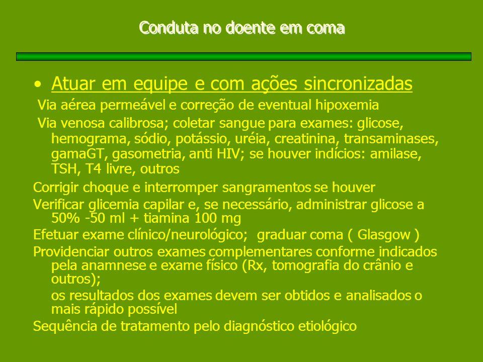Conduta no doente em coma