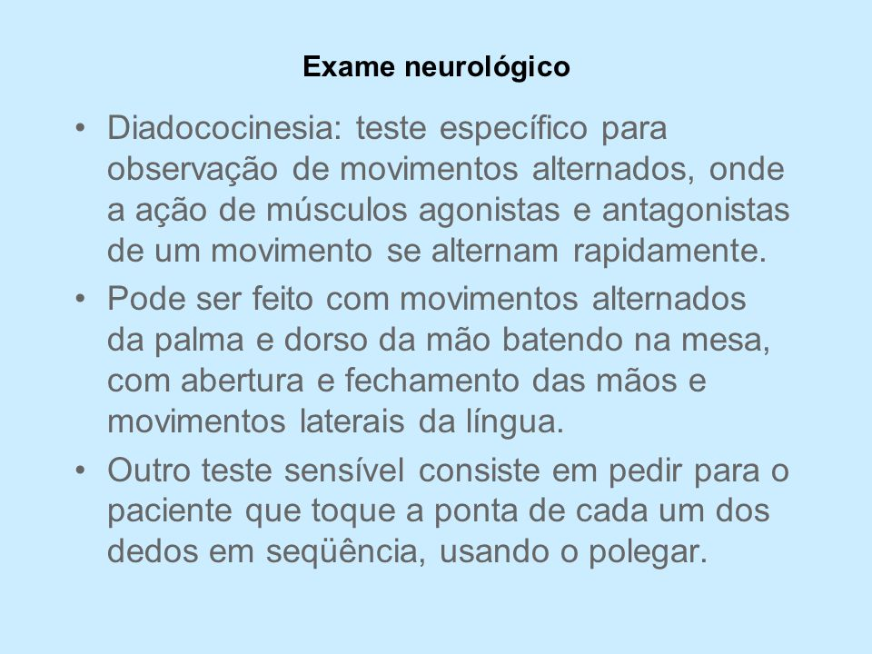 Exame neurológico