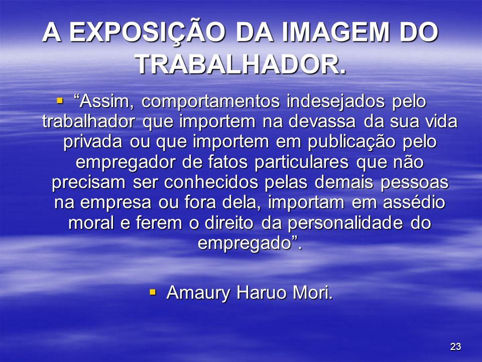 A EXPOSIÇÃO DA IMAGEM DO TRABALHADOR.