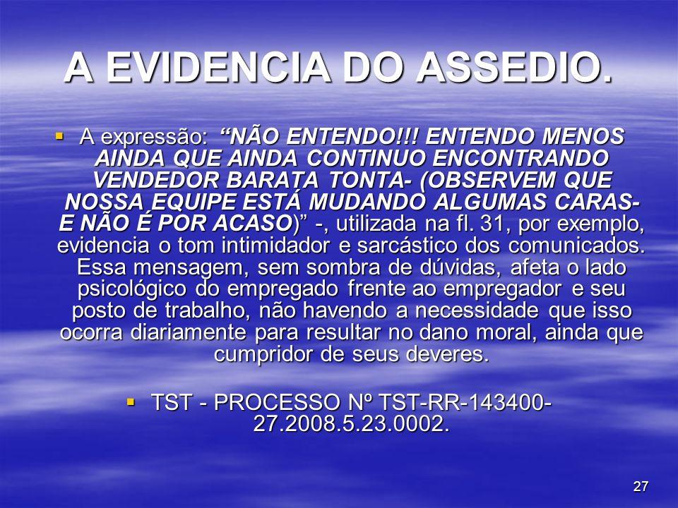 TST - PROCESSO Nº TST-RR-143400-27.2008.5.23.0002.