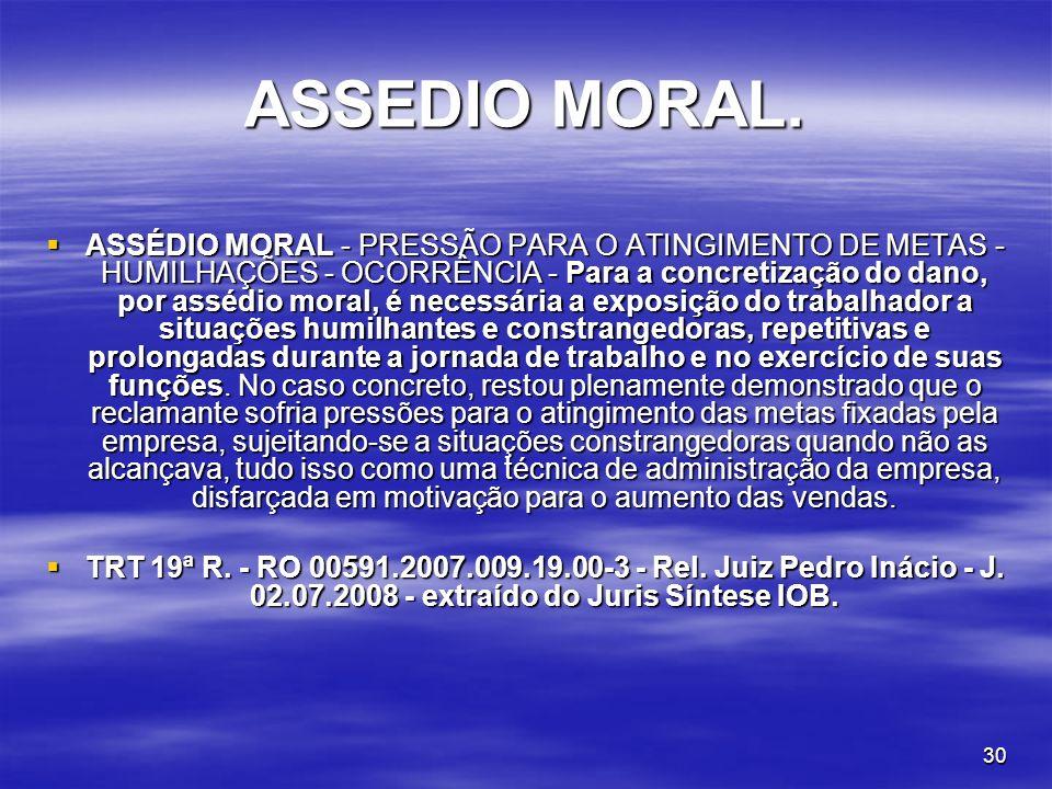 ASSEDIO MORAL.