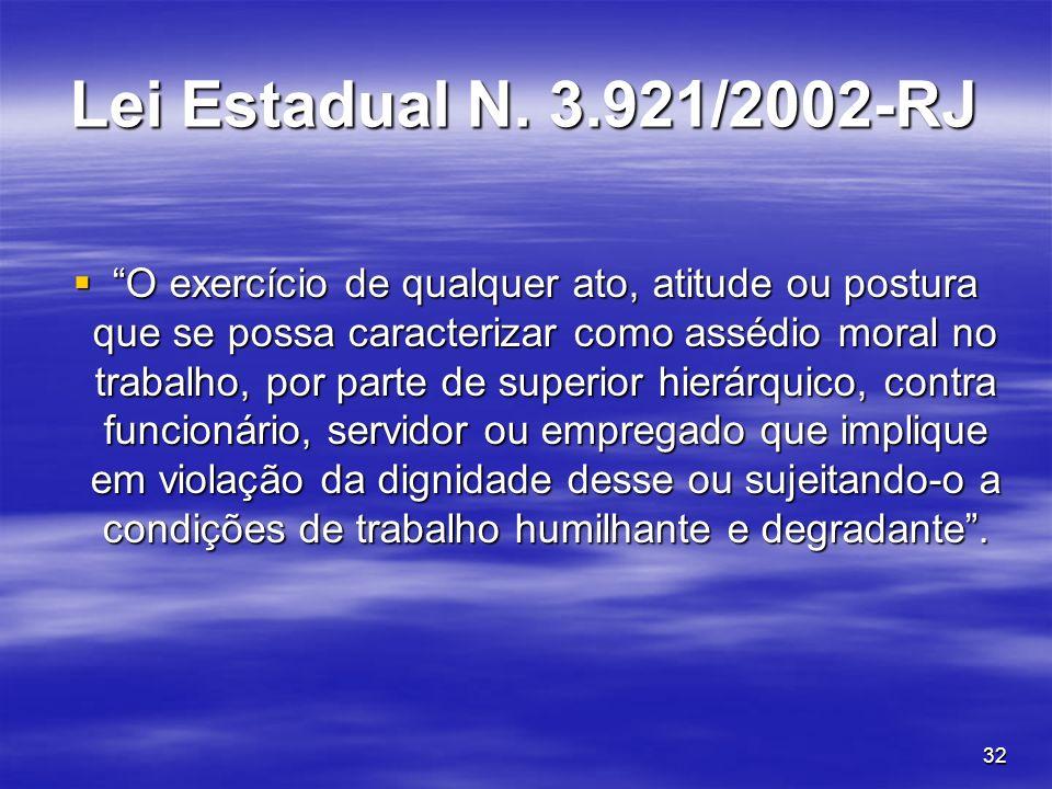 Lei Estadual N. 3.921/2002-RJ