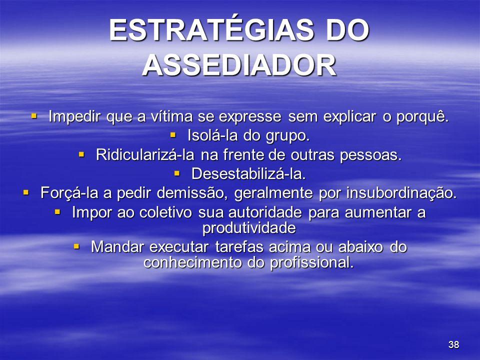 ESTRATÉGIAS DO ASSEDIADOR