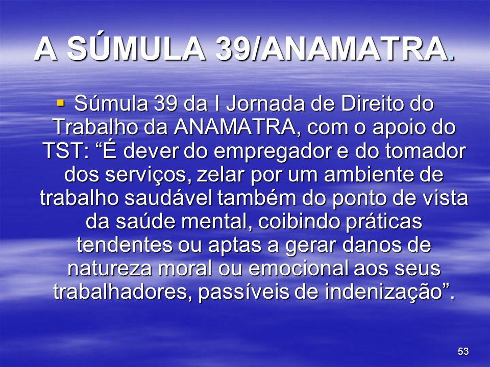 A SÚMULA 39/ANAMATRA.