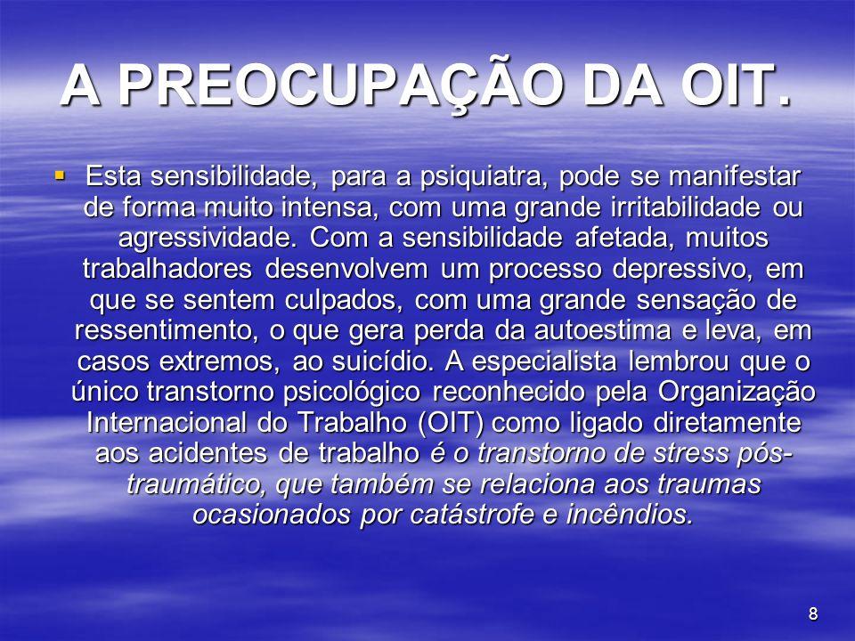 A PREOCUPAÇÃO DA OIT.