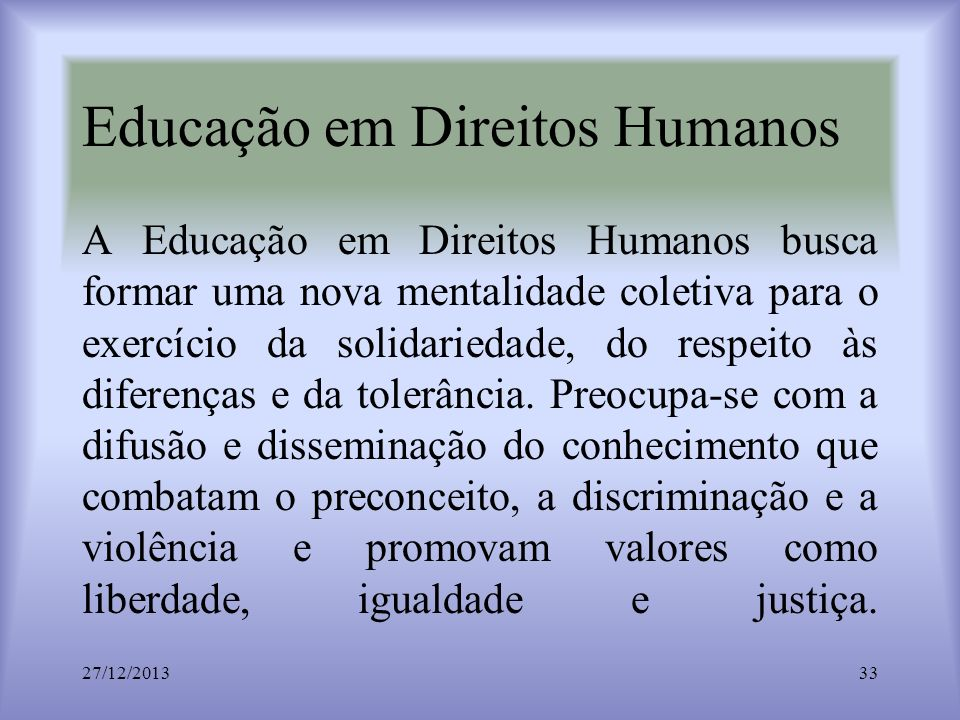 Educação em Direitos Humanos