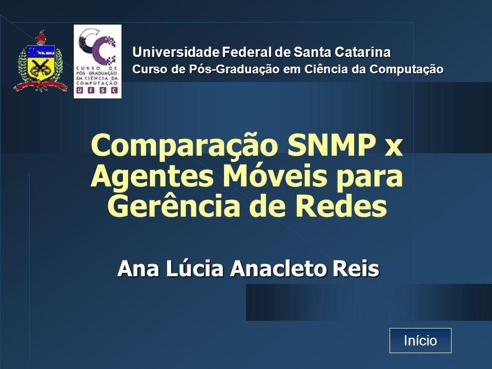 Comparação SNMP x Agentes Móveis para Gerência de Redes