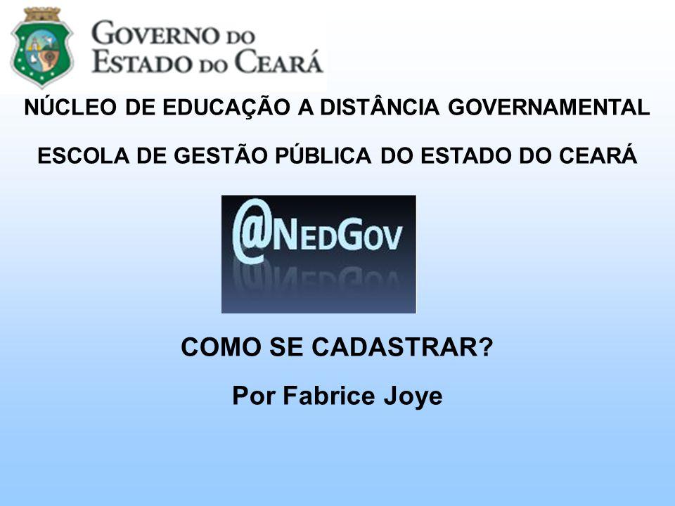 COMO SE CADASTRAR Por Fabrice Joye