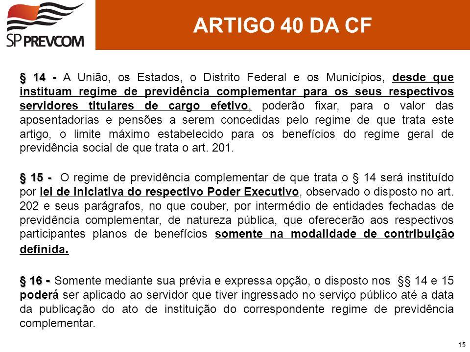 ARTIGO 40 DA CF