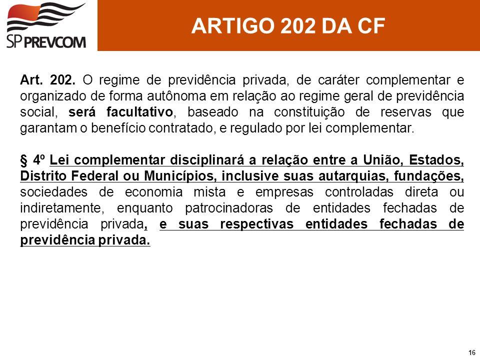 ARTIGO 202 DA CF