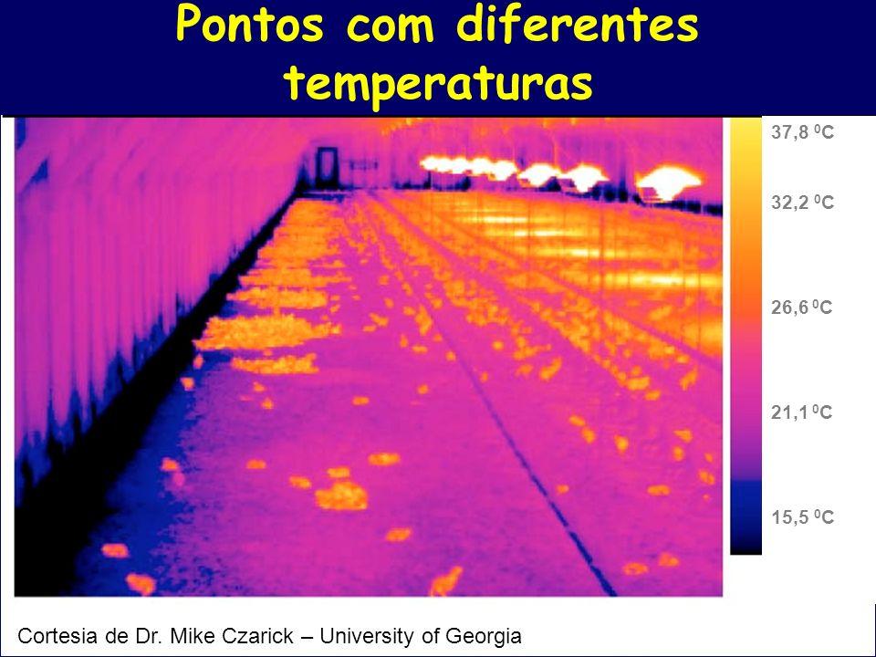 Pontos com diferentes temperaturas