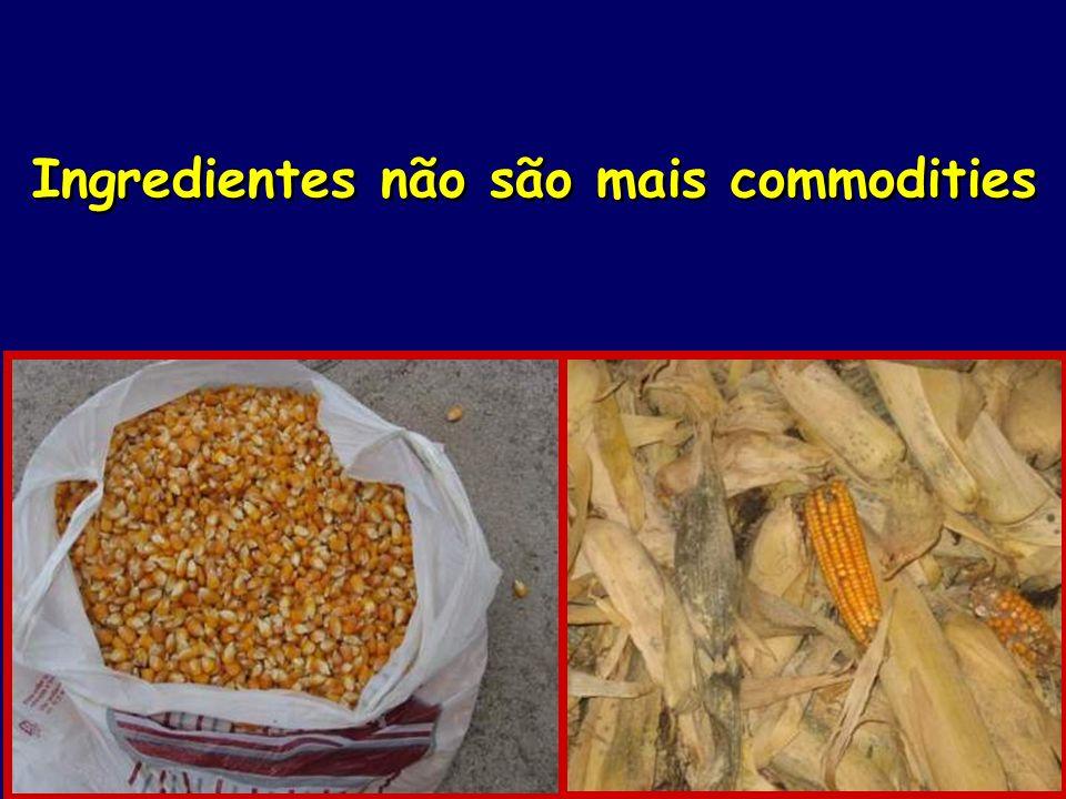 Ingredientes não são mais commodities