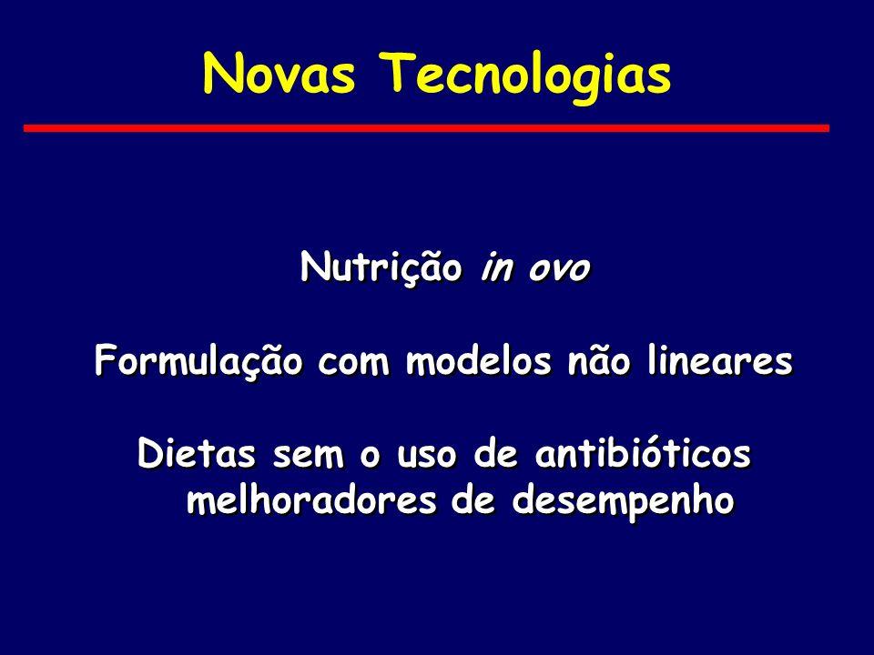 Novas Tecnologias Nutrição in ovo Formulação com modelos não lineares