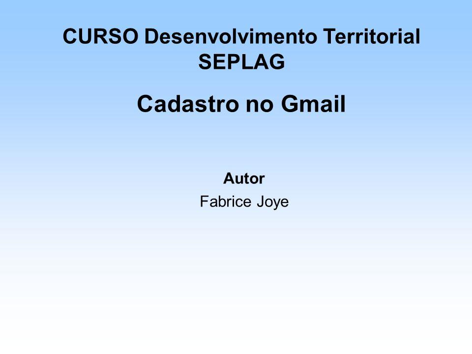 CURSO Desenvolvimento Territorial SEPLAG