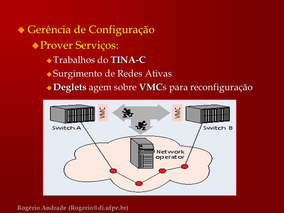 Gerência de Configuração Prover Serviços: