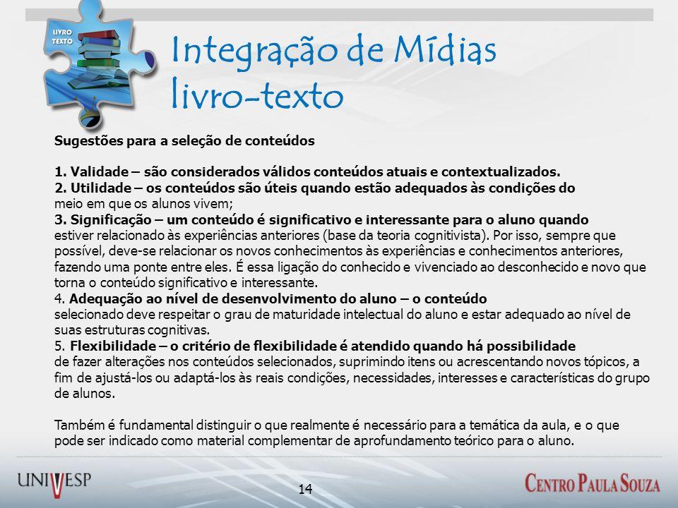 Integração de Mídias livro-texto