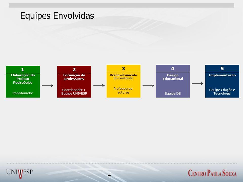 Elaboração do Projeto Pedagógico Desenvolvimento do conteúdo