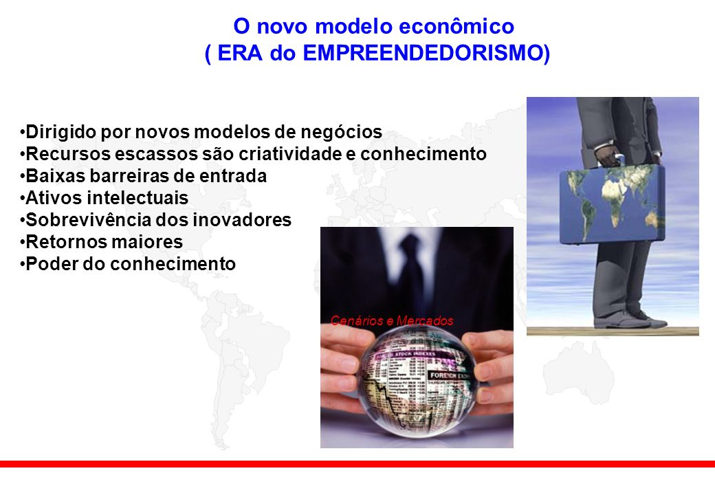 O novo modelo econômico ( ERA do EMPREENDEDORISMO)