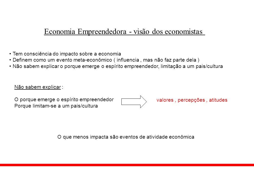 Economia Empreendedora - visão dos economistas