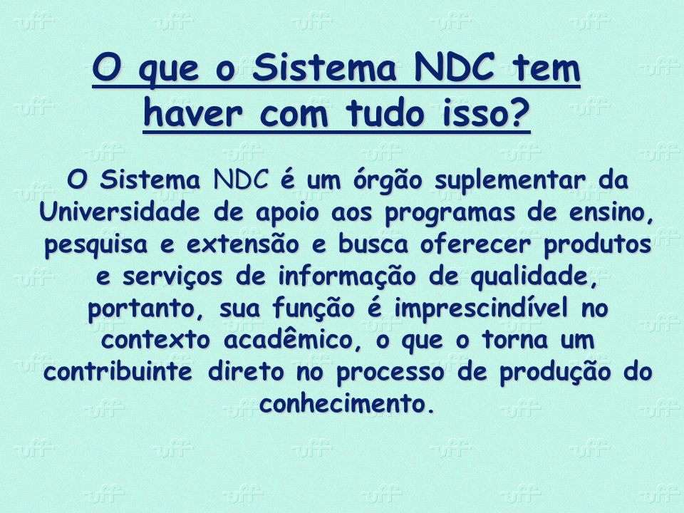 O que o Sistema NDC tem haver com tudo isso