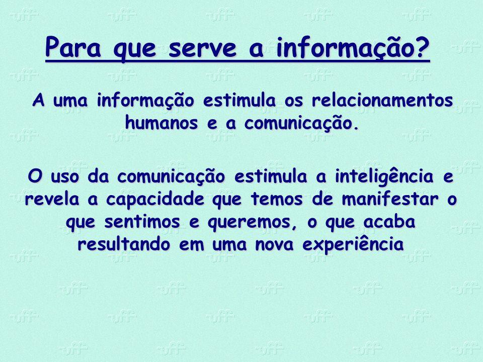 Para que serve a informação