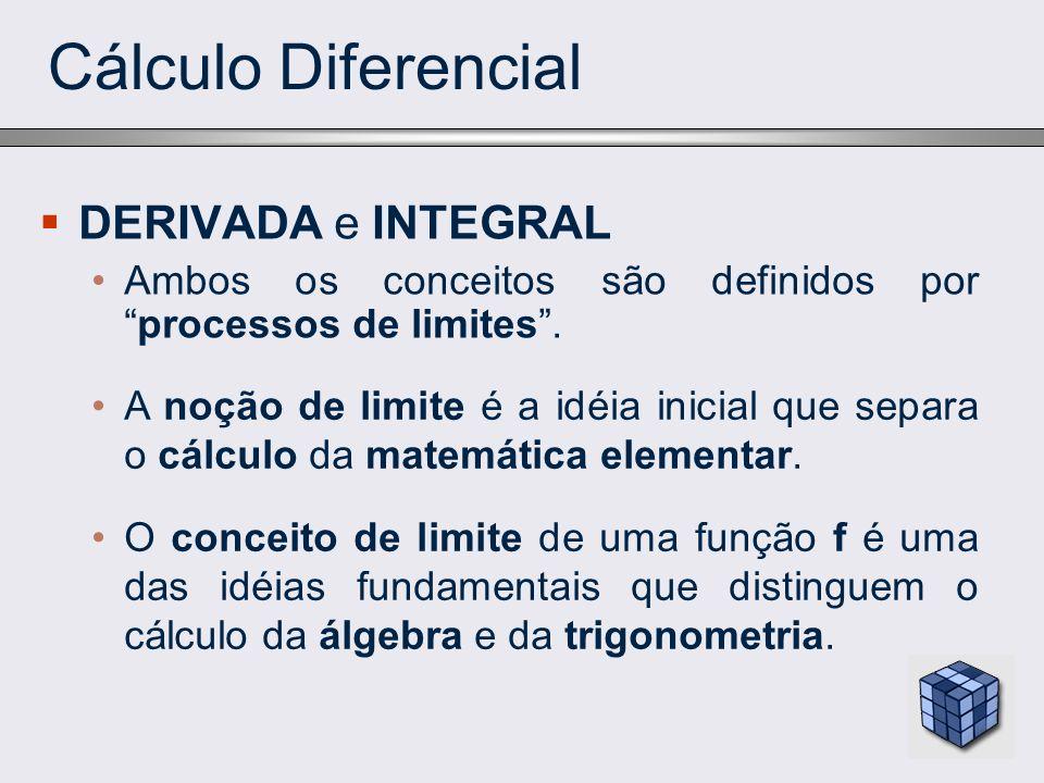 Cálculo Diferencial DERIVADA e INTEGRAL