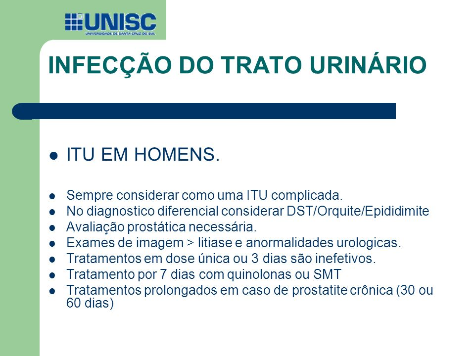 INFECÇÃO DO TRATO URINÁRIO