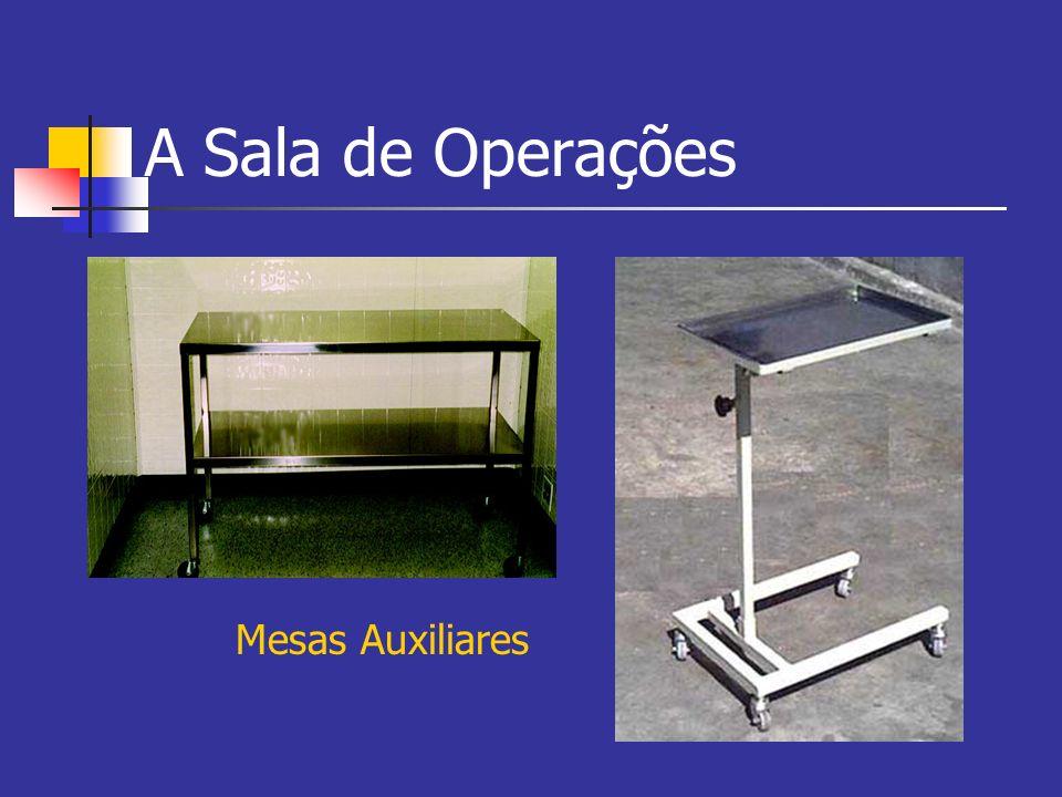 A Sala de Operações Mesas Auxiliares