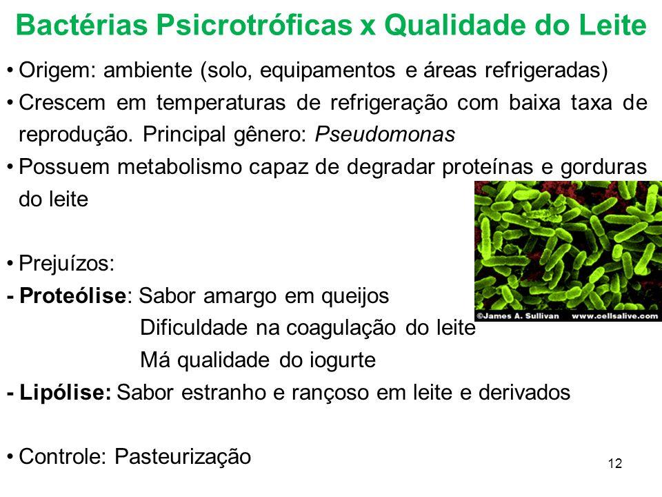 Bactérias Psicrotróficas x Qualidade do Leite