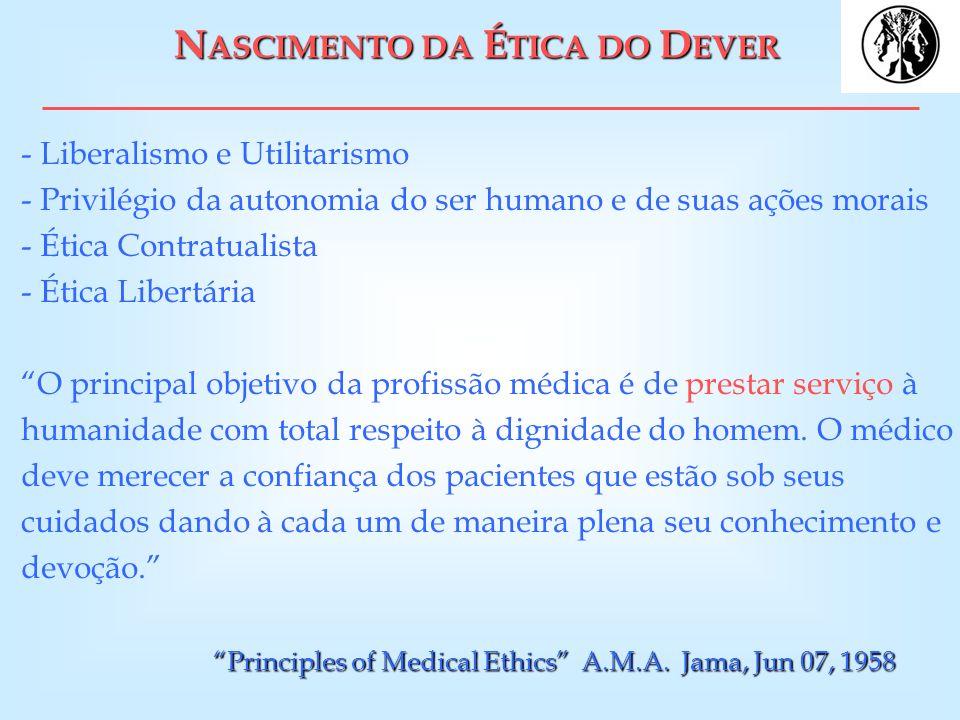 NASCIMENTO DA ÉTICA DO DEVER
