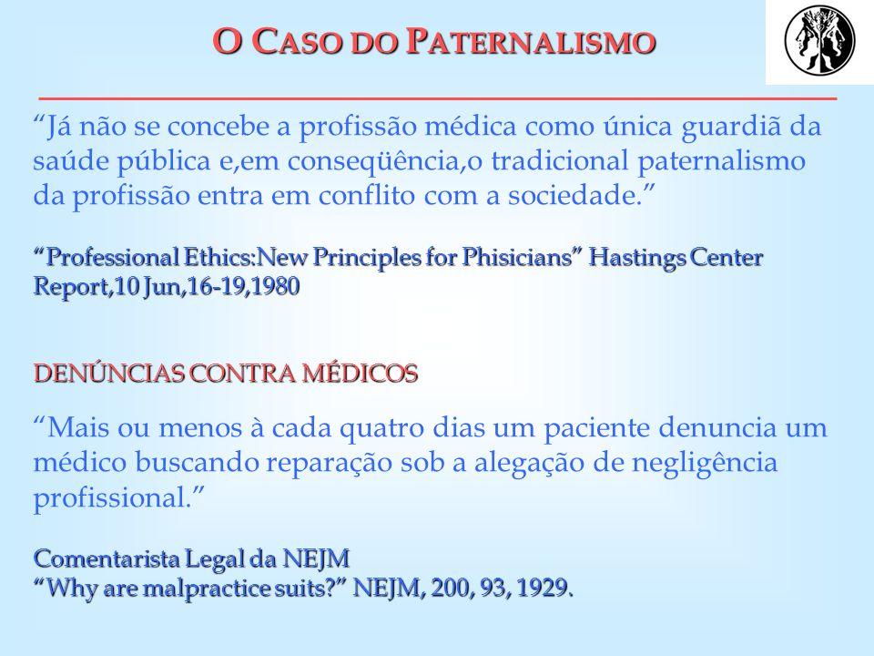 O CASO DO PATERNALISMO