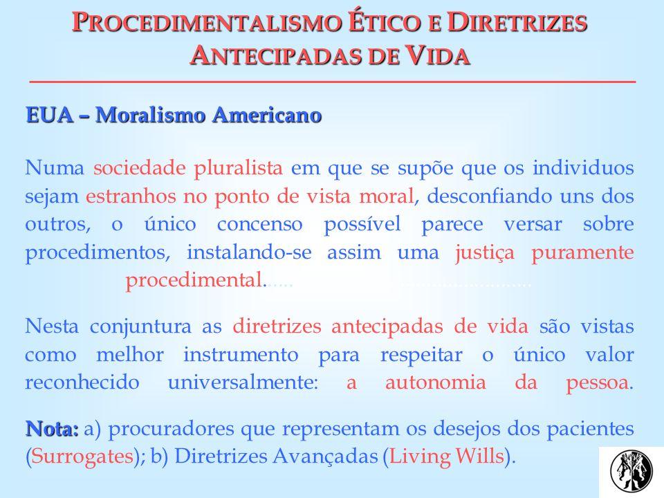 PROCEDIMENTALISMO ÉTICO E DIRETRIZES ANTECIPADAS DE VIDA