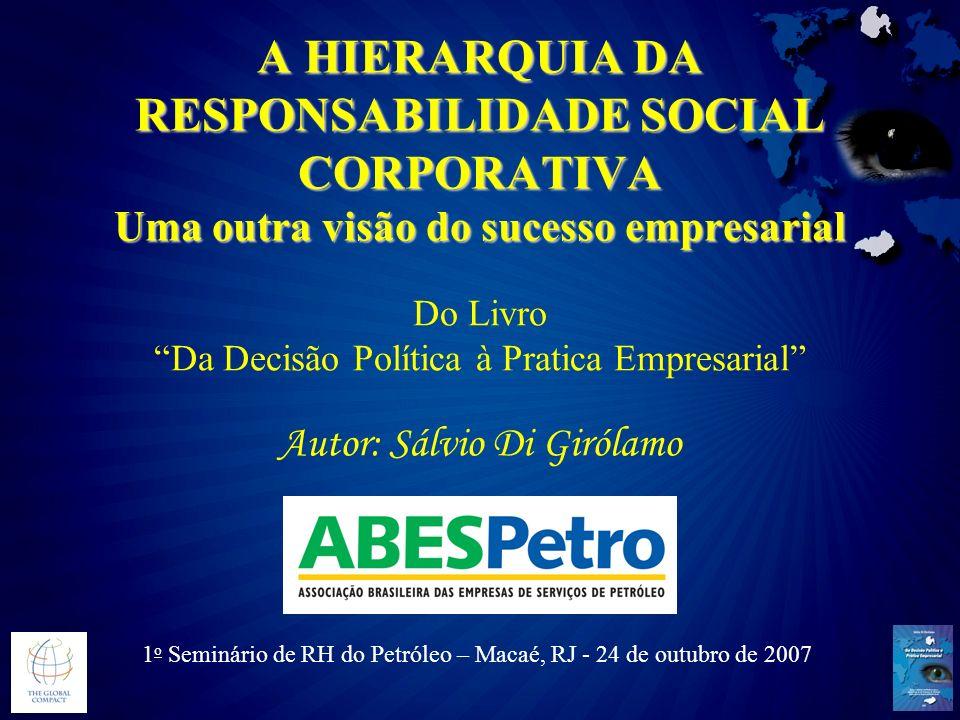 A HIERARQUIA DA RESPONSABILIDADE SOCIAL CORPORATIVA Uma outra visão do sucesso empresarial