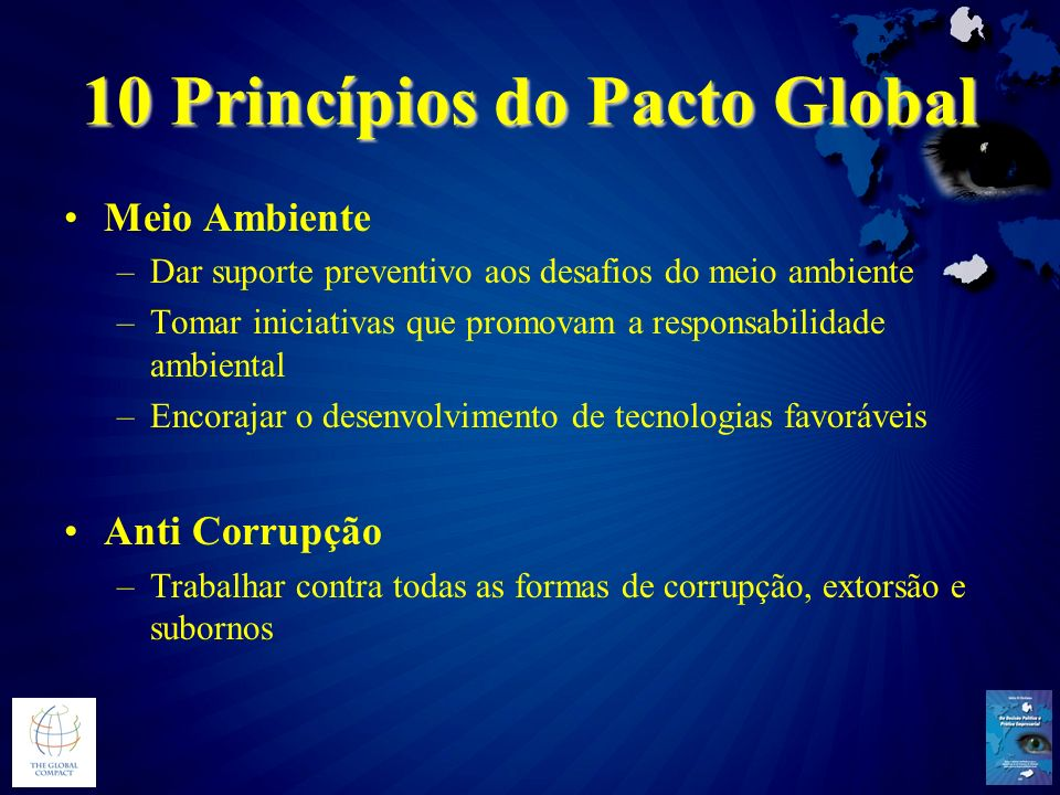 10 Princípios do Pacto Global