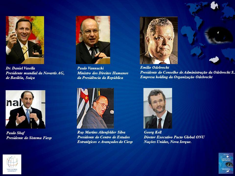 Presidente mundial da Novartis AG, de Basiléia, Suíça Paulo Vannuchi