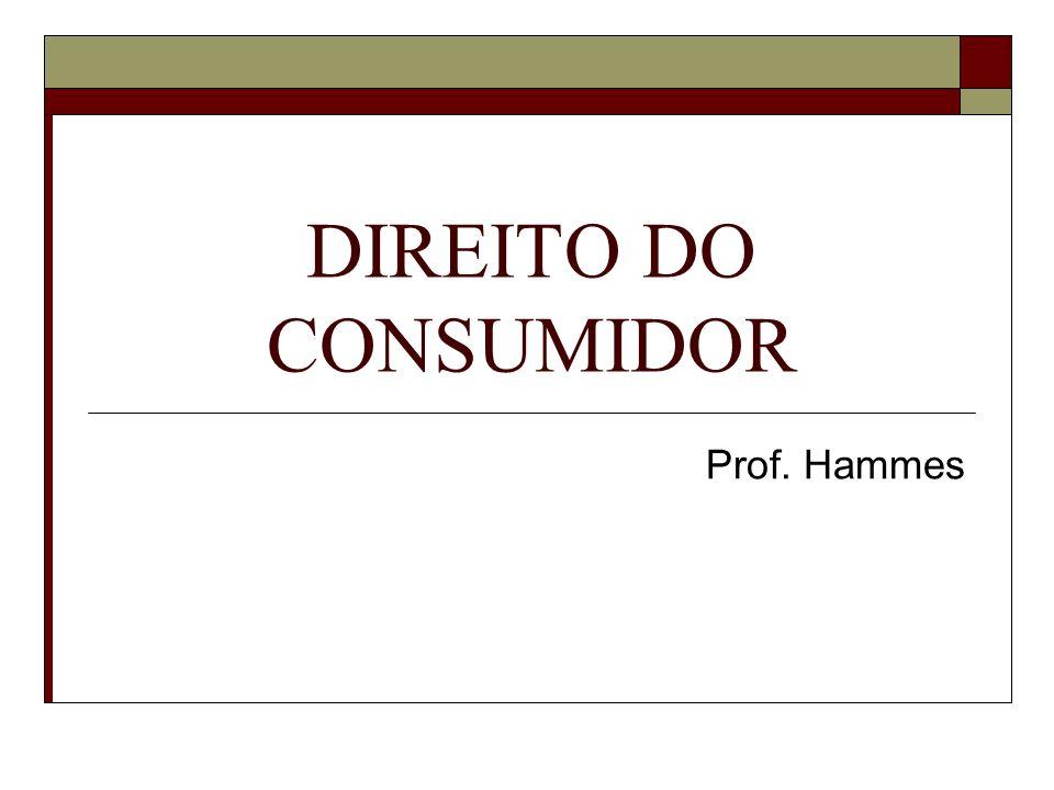 DIREITO DO CONSUMIDOR Prof. Hammes