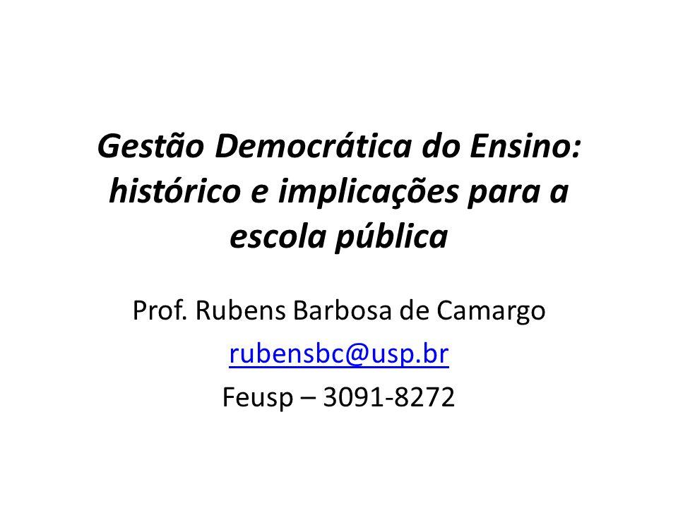 Prof. Rubens Barbosa de Camargo rubensbc@usp.br Feusp – 3091-8272
