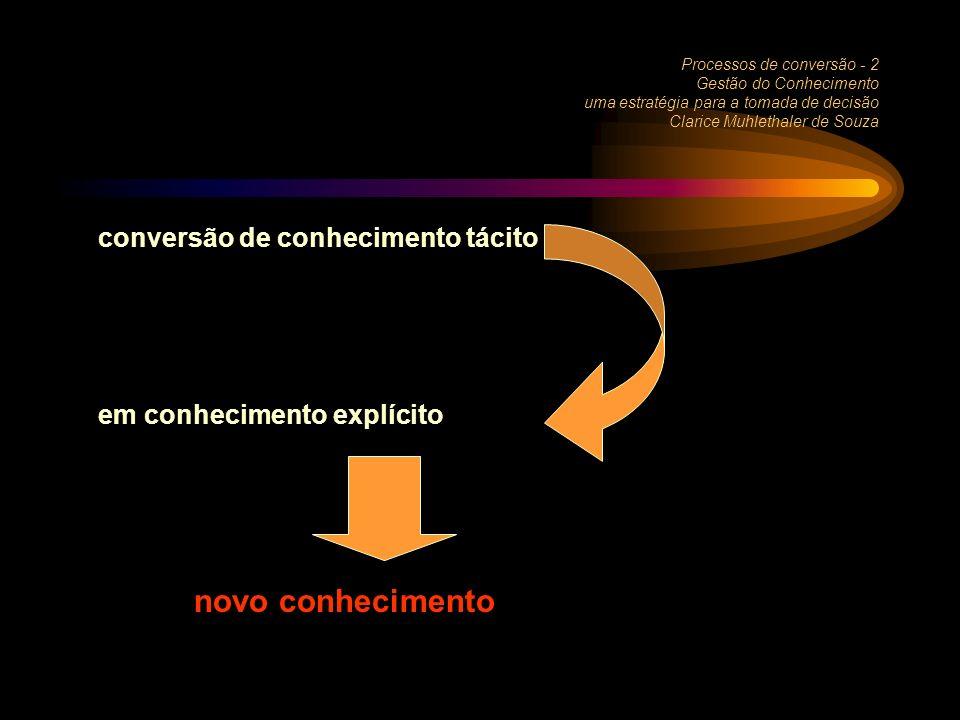 novo conhecimento conversão de conhecimento tácito