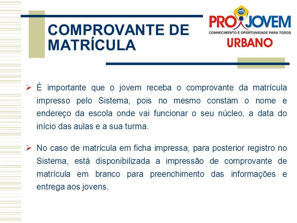 COMPROVANTE DE MATRÍCULA