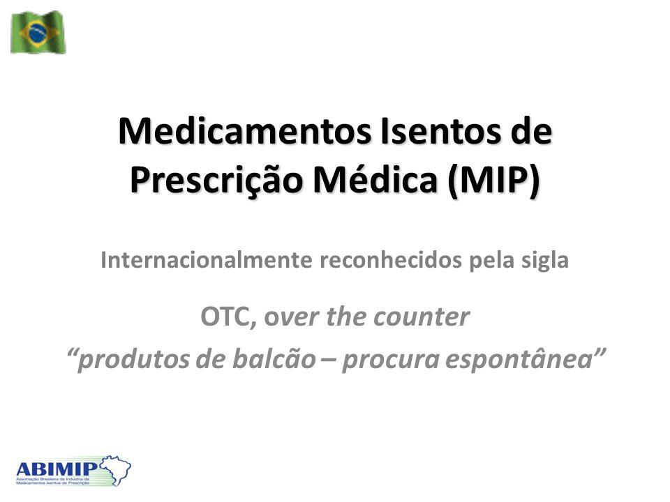 Medicamentos Isentos de Prescrição Médica (MIP)