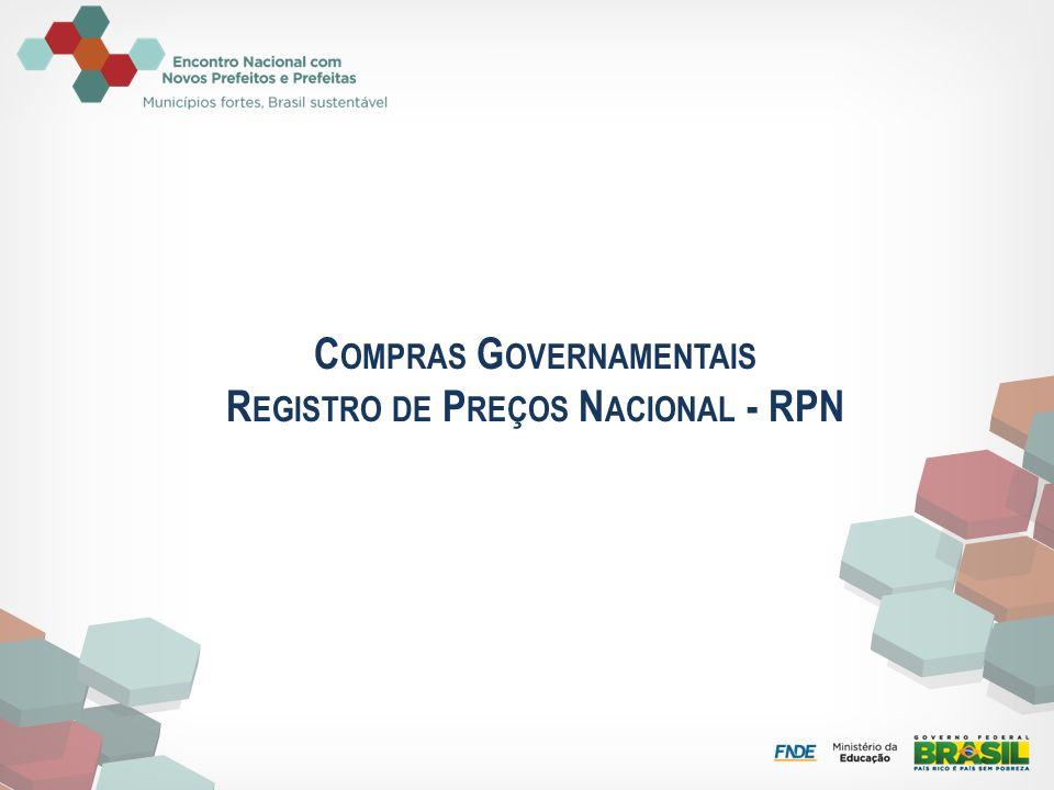 Compras Governamentais Registro de Preços Nacional - RPN